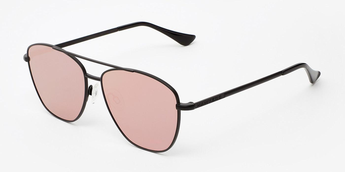 Image For Hawkers Sonnenbrille Black  Rose Gold Flat La mit rose linse